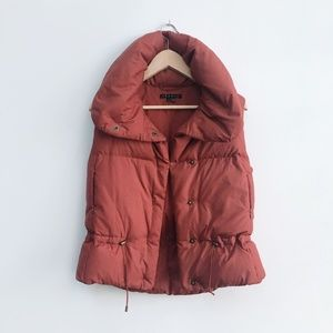 Theory Down Puffer Vest - size Small